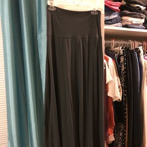 Dark Gray Old Navy Maxi Skirt